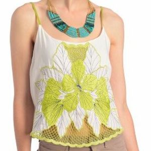 Arny K. Floral Green Embroidery Top